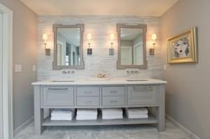 25 White Bathroom Cabinets Ideas