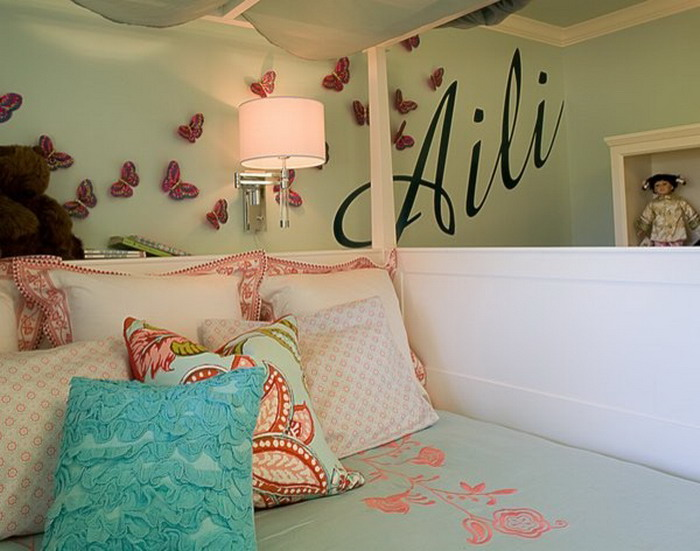 Beautiful-Butterfly-Wall-Art-in-Kids-Bedroom