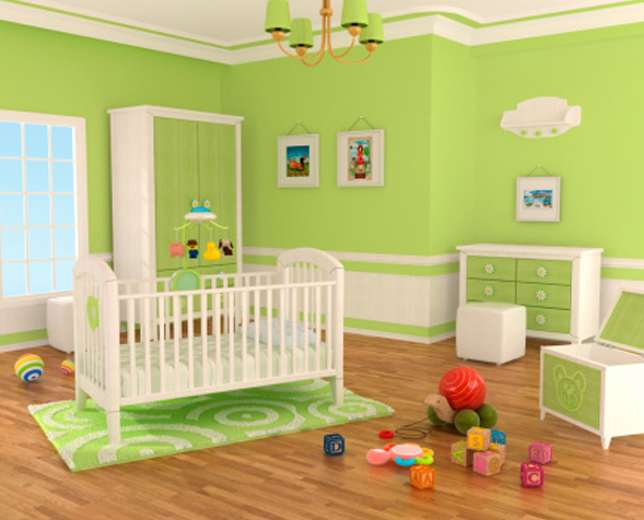 Big_Bedroom-Wall-Paint-Design-Green-Yellow