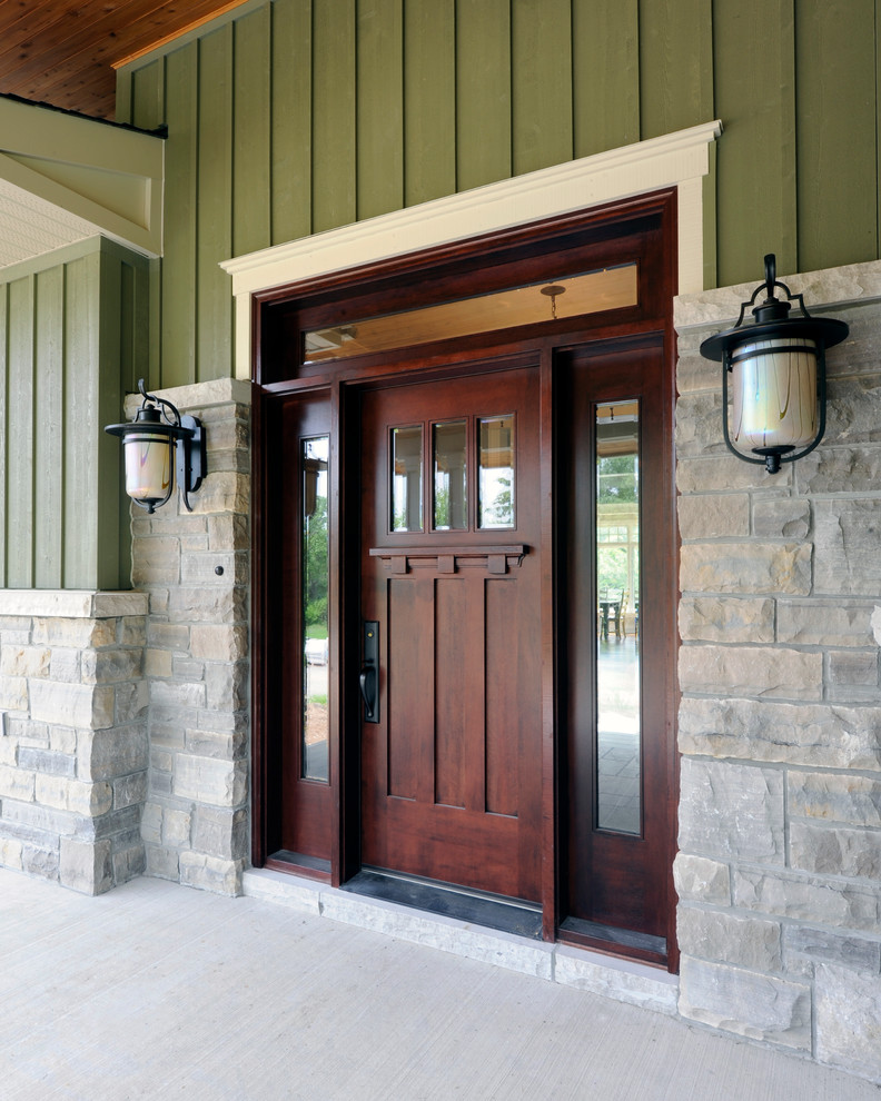 Bright Larson Doors look Ottawa Craftsman Entry Decorating ideas
