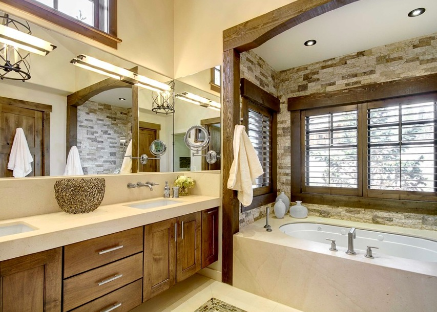 Bright Rustic Bathroom