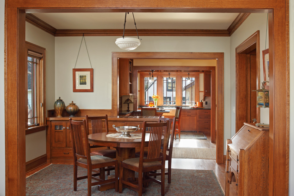 15 wonderful craftsman dining design ideas for Dining room renovation