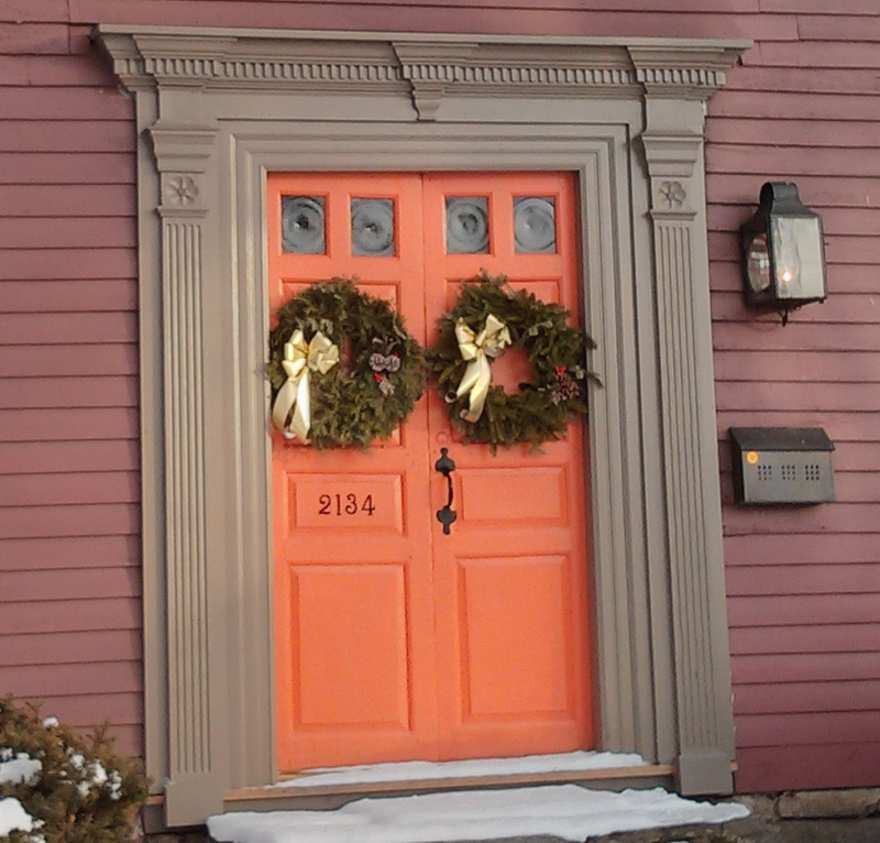 Craftsman-Front-Door-With-Design-Color-Orange