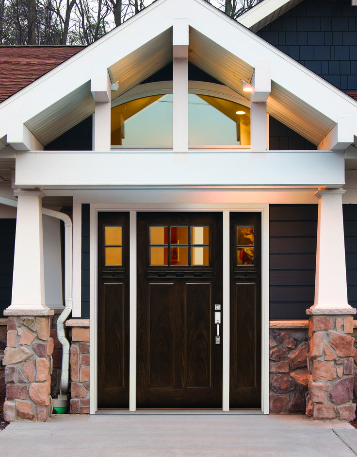 Craftsman style doors 21 Stunning Craftsman Entry