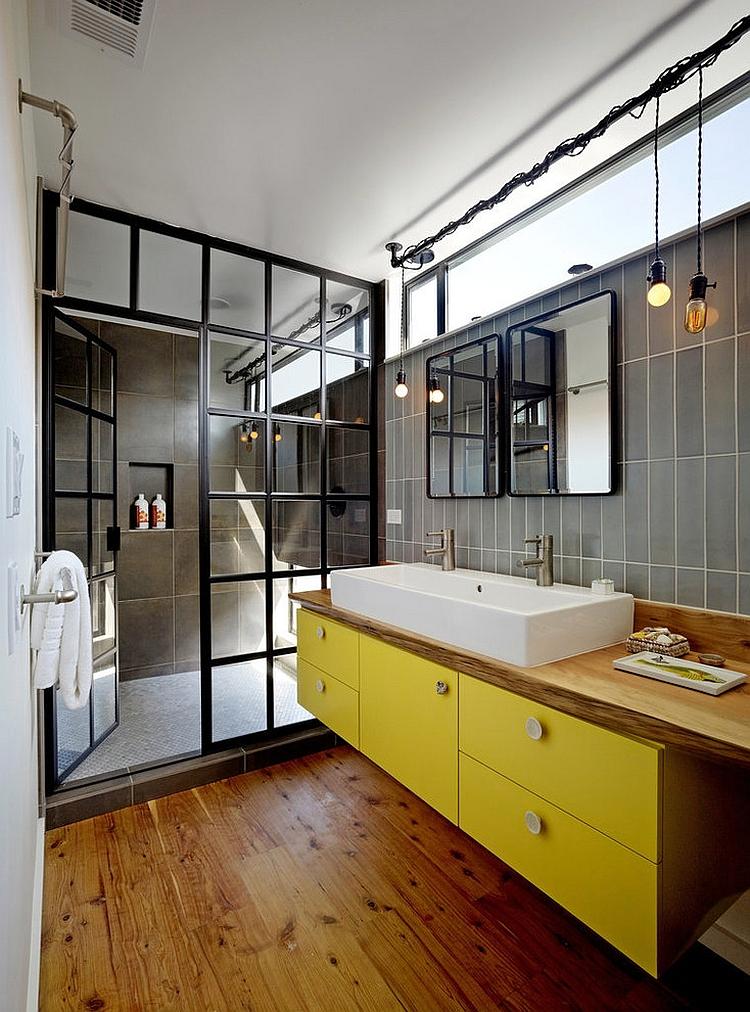 Custom-shower-glass-door-gives-the-bathroom-a-unique-look