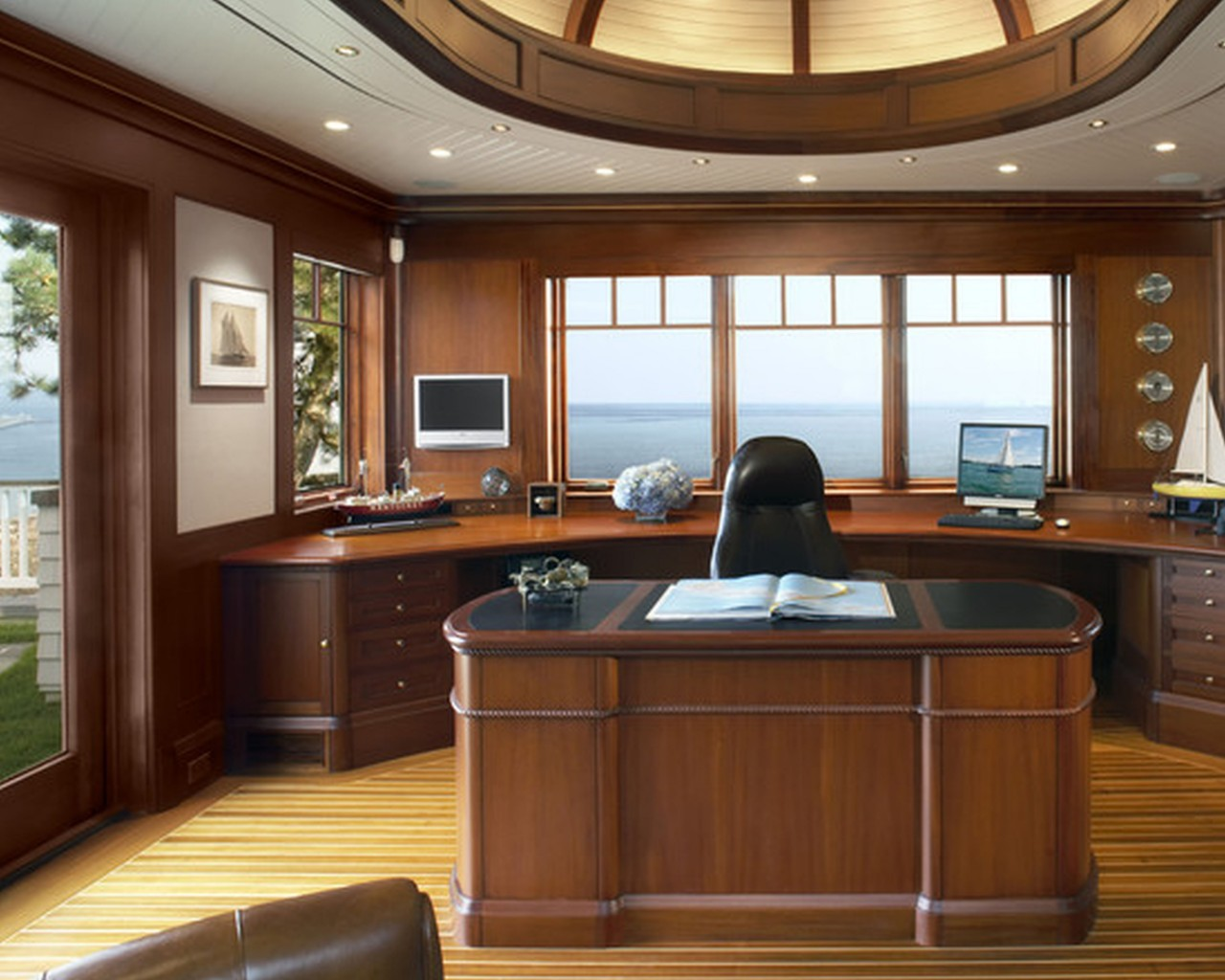 21 outstanding craftsman home office designs for Craftsman style office