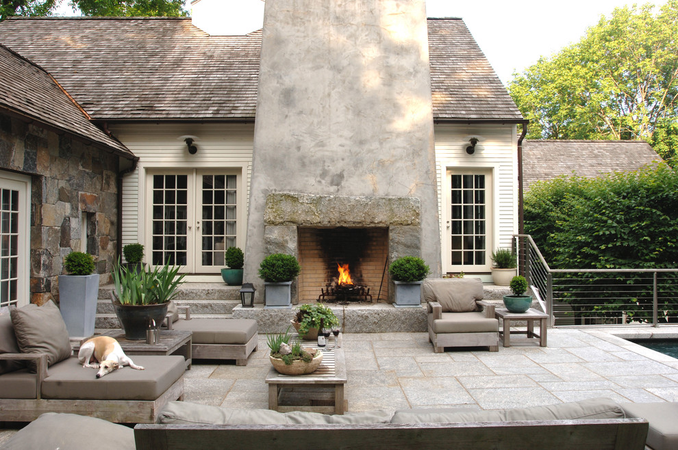 Engaging Outdoor Fireplace Home Remodel Farmhouse Patio Other