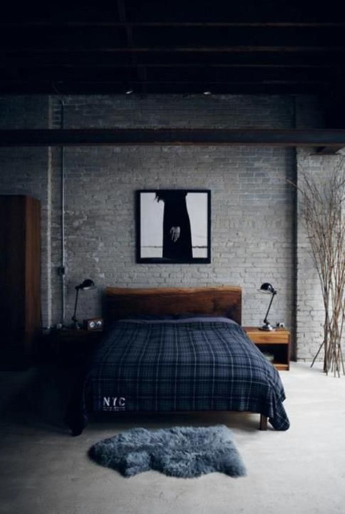 Gloomy-Industrial-Bedroom
