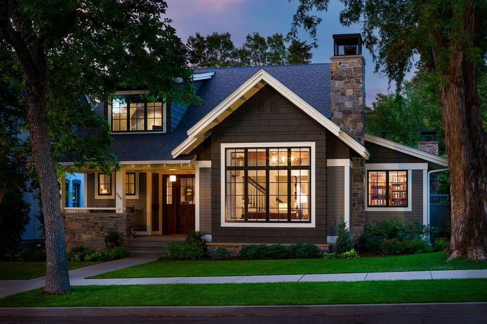 Good-Looking-Pangea-Home-look-Other-Metro-Traditional-Exterior-Decorating-ideas-with-Craftsman-style-curb-appeal-dormers-Exterior-foundation-planting-front-door-front-porch-grass-lawn