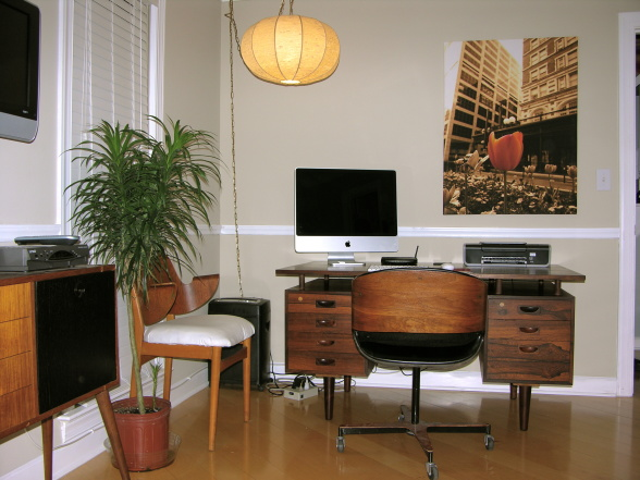 home office mid century styling