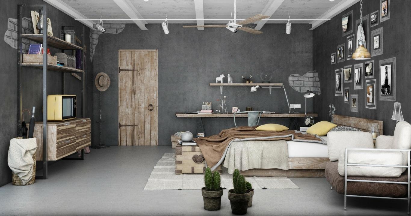 Industrial Bedrooms Interior Design
