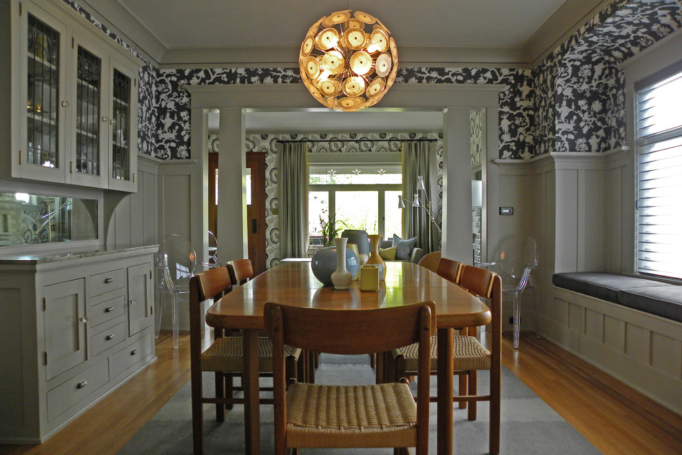 Killer Dining Room Craftsman design ideas for White 15 Wonderful Craftsman Dining Design Ideas