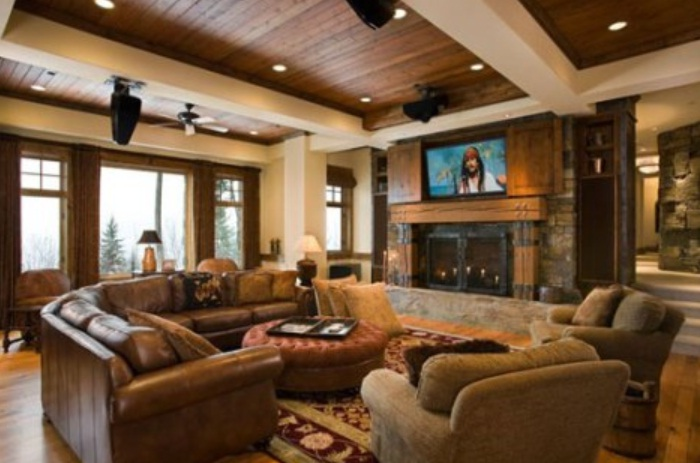 Living Room Design With Rustic Ideas Furniture