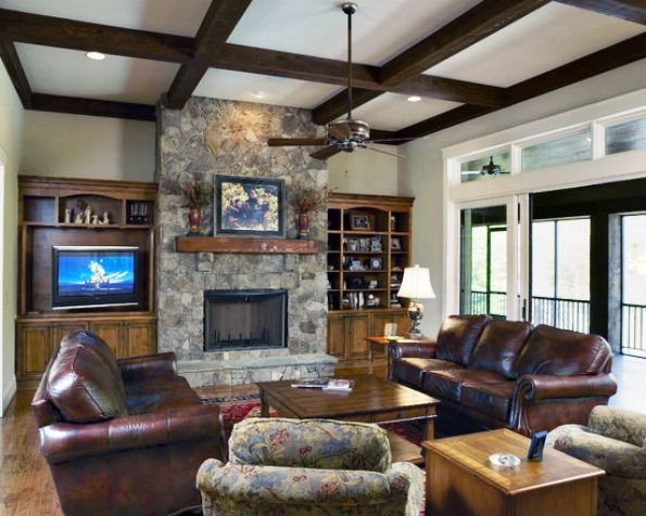 Luxury-Apartment-Interior-With-Craftsman-Family-Living-Room-Design-Ideas