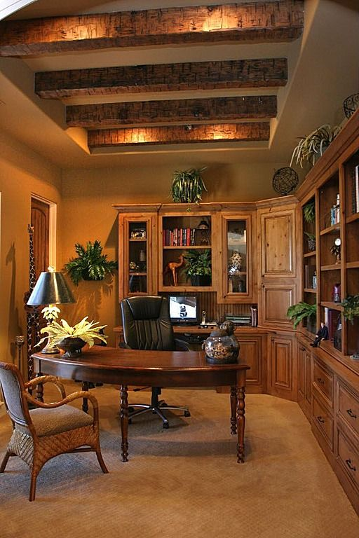 Mediterranean Home Office Home Interior Design