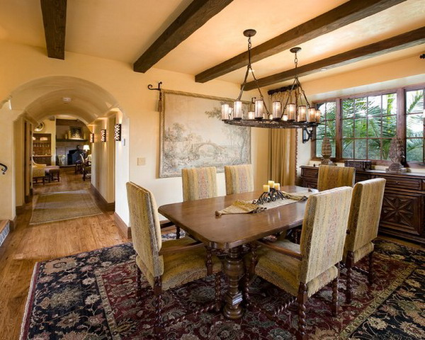Mediterranean Style Dining Room Decor