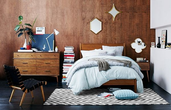Mid Century Style Bedroom From West Elm