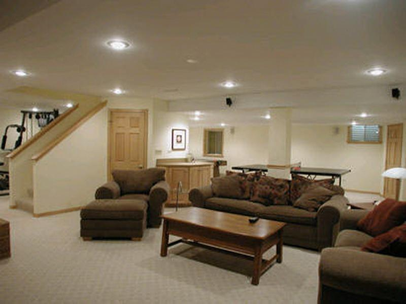 Midcentury Basement Design__