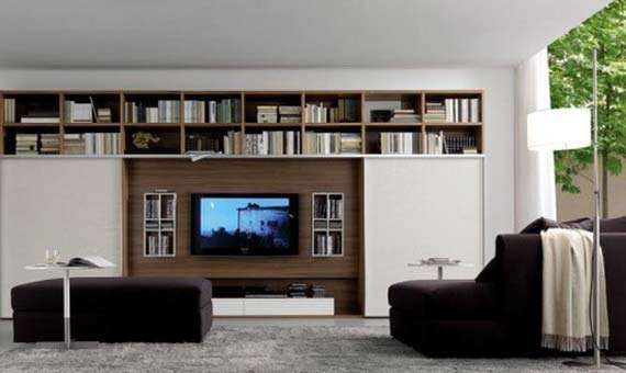 Modern Wall Mounted TV Unit System Design