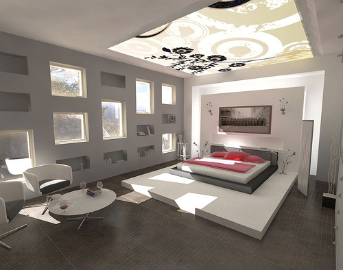 Modern-ceiling-design-in-black-and-white-pattern