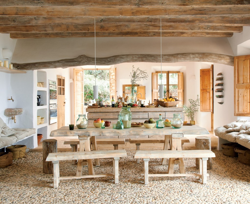 Rustic-Dining-Room-Decorating-Ideas-With-Natural-Wooden-Furniture-Ideas