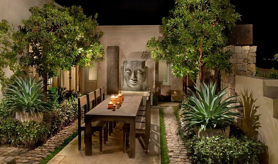 Simple And Stylish Outdoor Dining Space With An