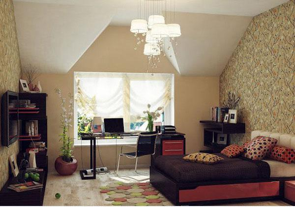 The-Black-Chair-Of-Stylish-Teenage-Girls-Bedroom-Ideas
