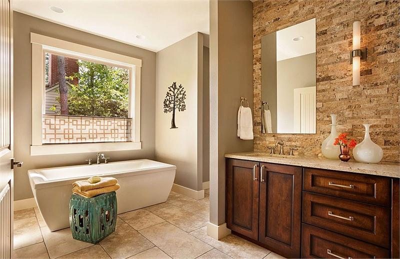 Transitional Bathroom Design decor