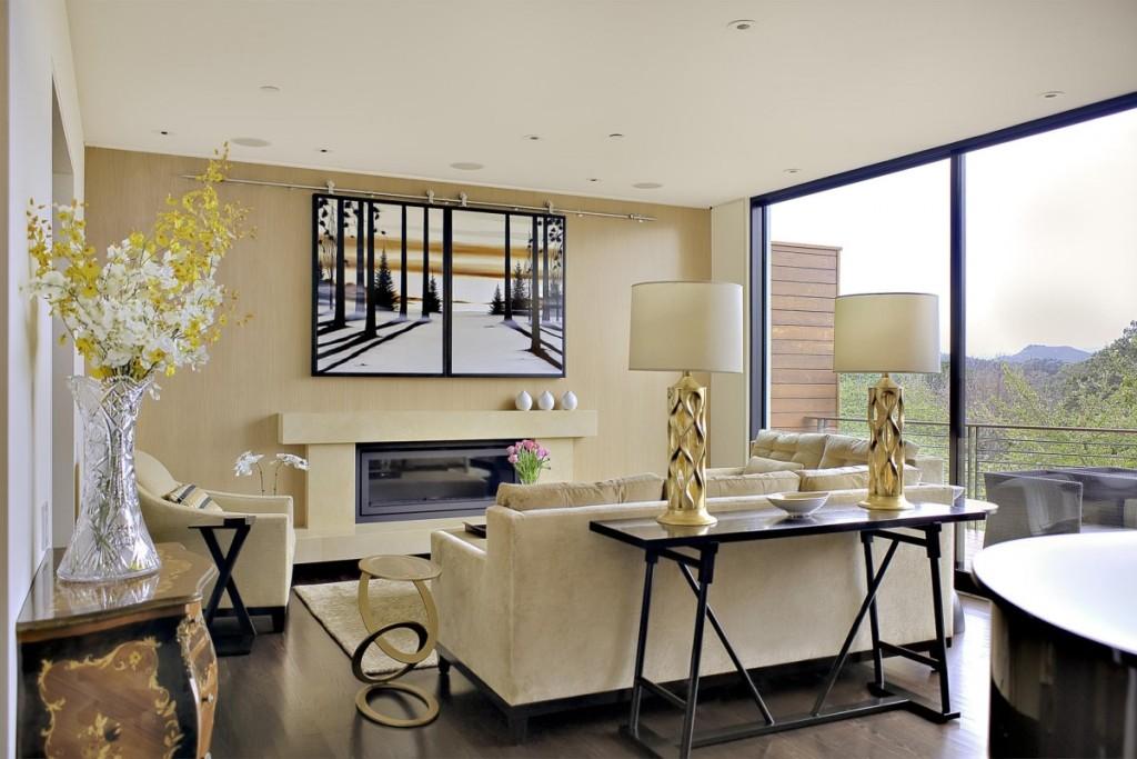 Transitional Living Design decor