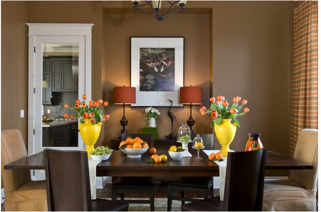 Transitional dining room designs_