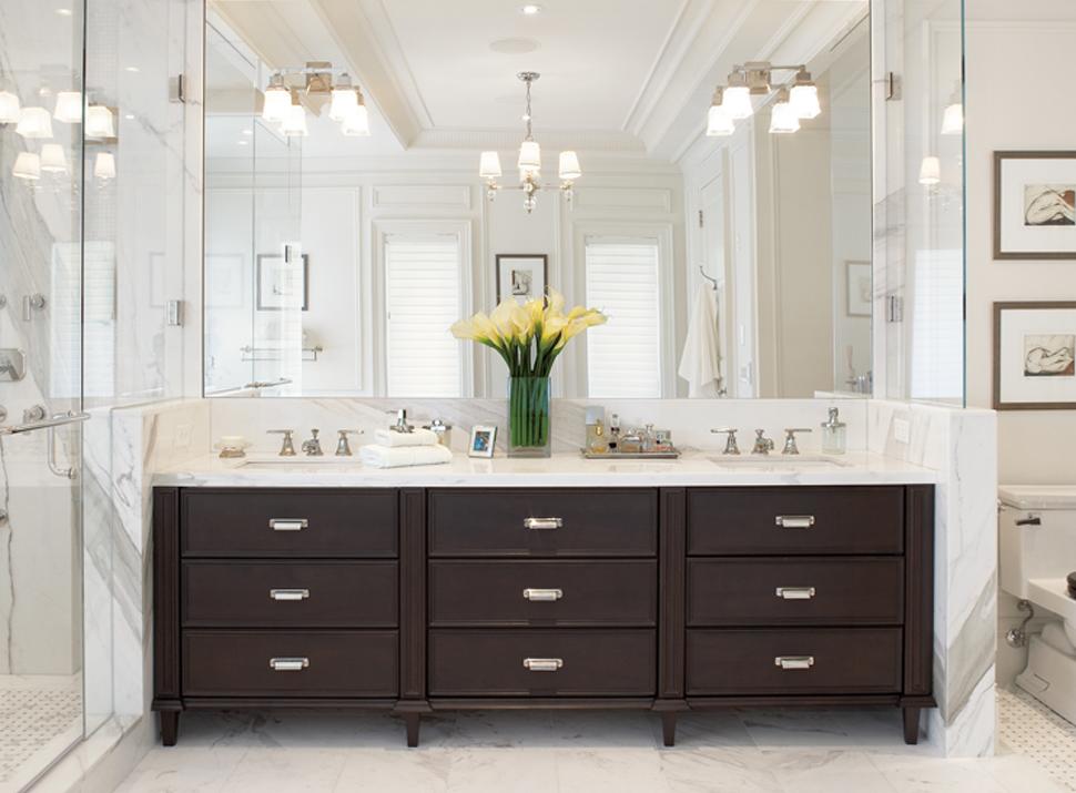Outstanding Bathroom Lighting Over Mirror: 21 Outstanding Transitional Bathroom Design