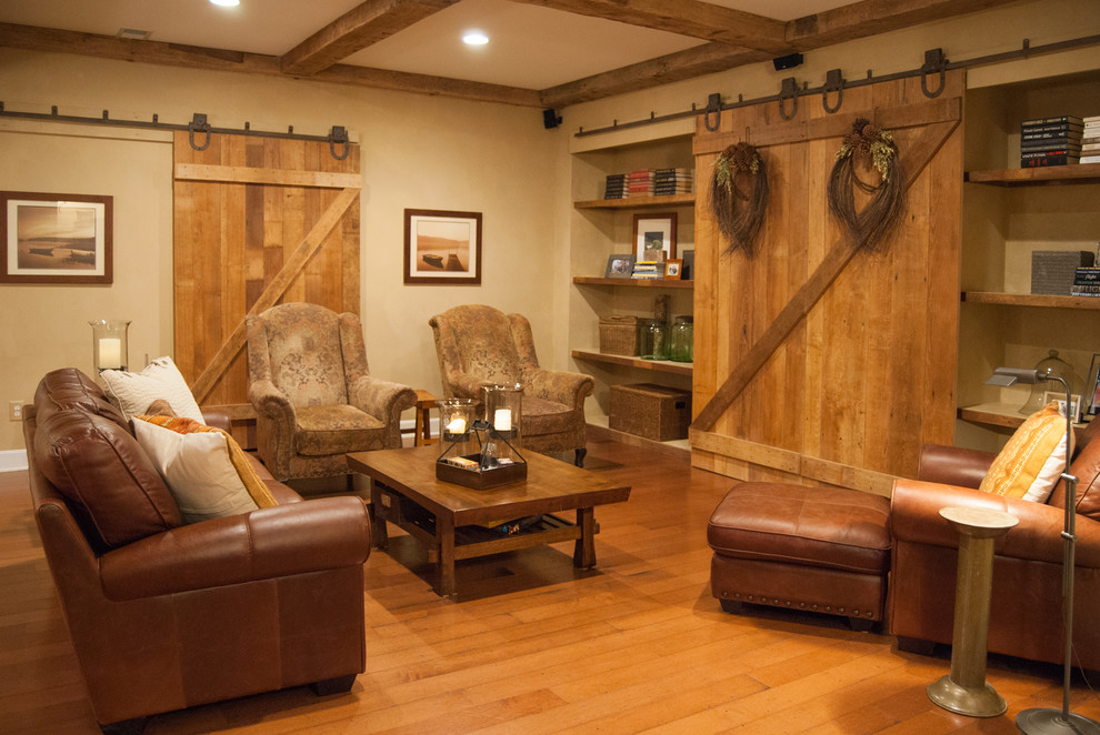 Wonderful Sliding Barn Door Decorating Ideas For Basement