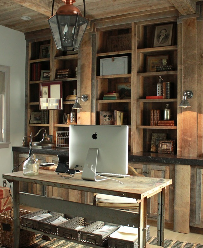Creative Home Office Ideas: 15 Creative Rustic Home Office Designs