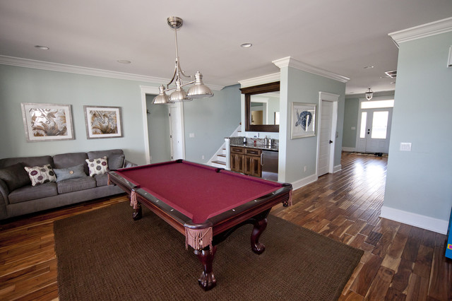 beach-style-basement-with-pool-table