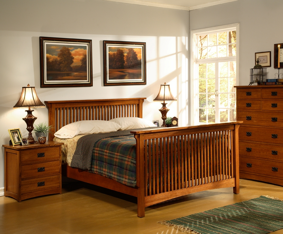 beautiful-american-craftsman-slatted-bedroom-set