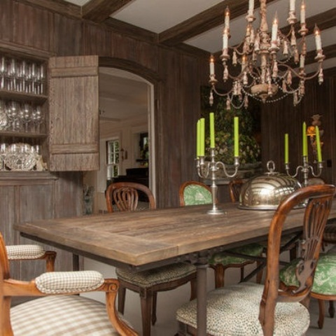 calm and airy rustic dining room designs__