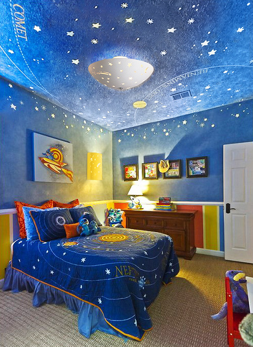 30 amazing industrial kids bedroom design for Outer space industrial design