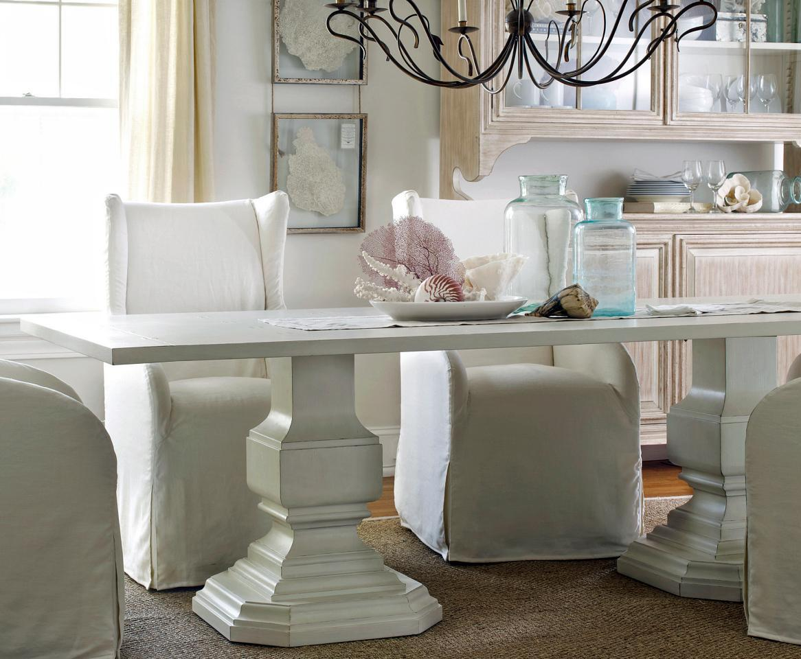 coastal slipcovered dining