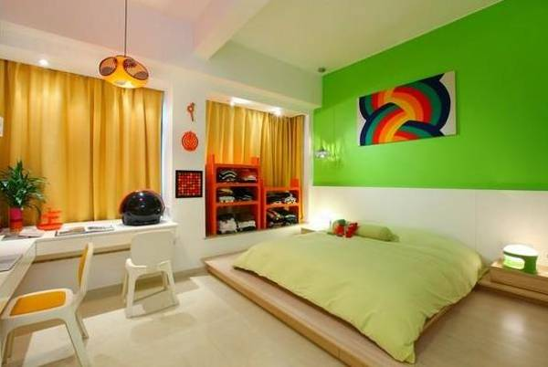 21 Bright Color Combination Ideas For Bedroom Orange Paint Home Interior Design