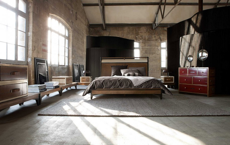 concrete-bedroom-decor-decorating-ideas & 25 Best Industrial Bedroom Design Ideas