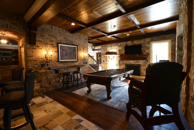 craftsman-basement-pool-table