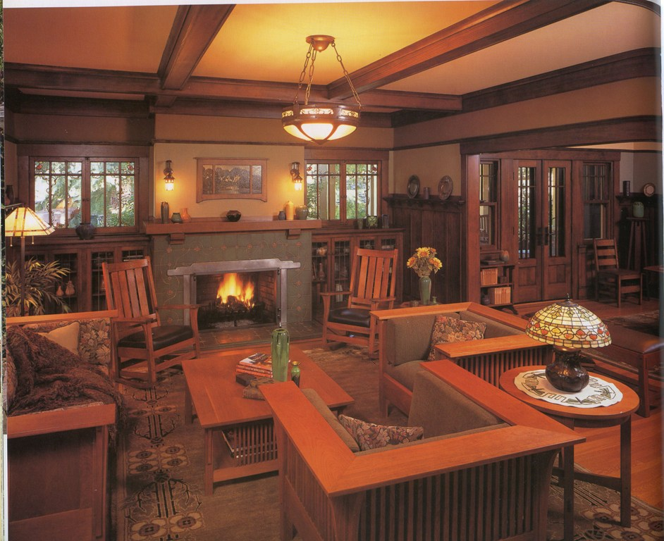 craftsman-living-room-interior