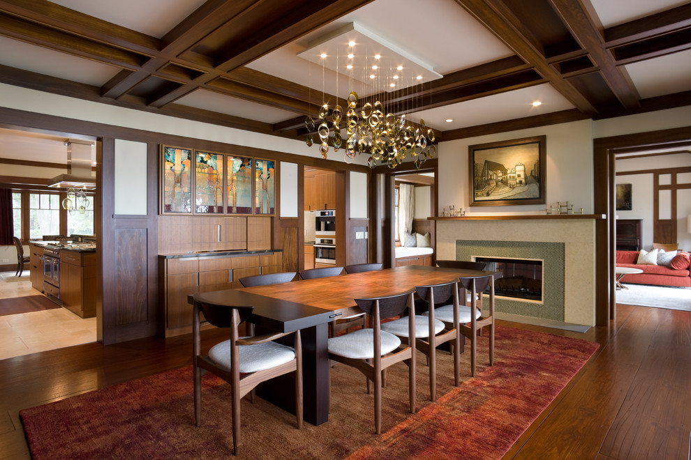 Craftsman Style Decor Dining Room Transitional