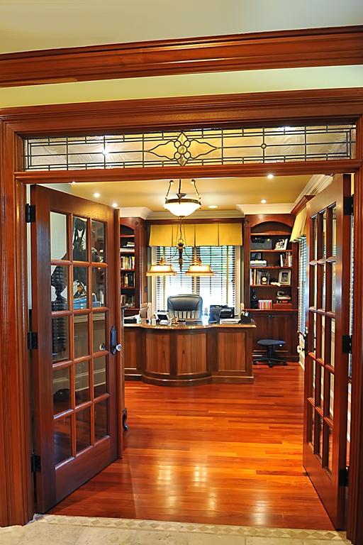 dark brown vintage craftman office
