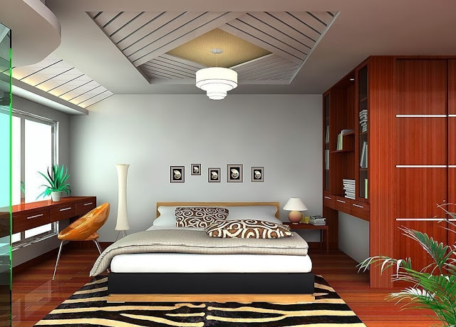 15 modern ceiling design ideas for your home for Master bedroom ceiling designs