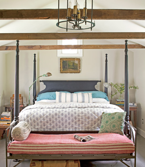 exposed-beams-bedroom-ohio-farmhouse