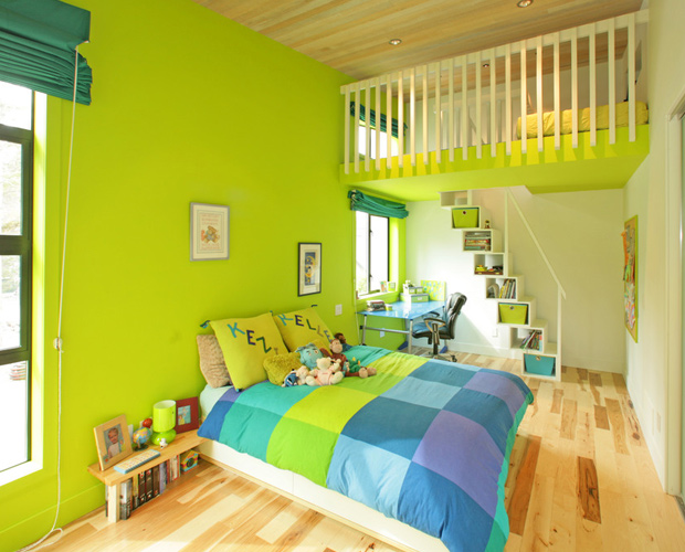 21 bright color combination ideas for bedroom 18381 | green bright colorful bedroom
