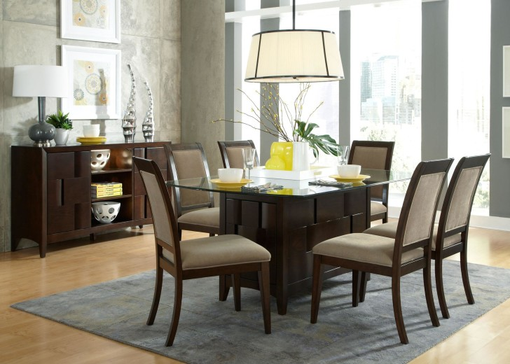 15 elegant glass dining room tables for Best dining room looks