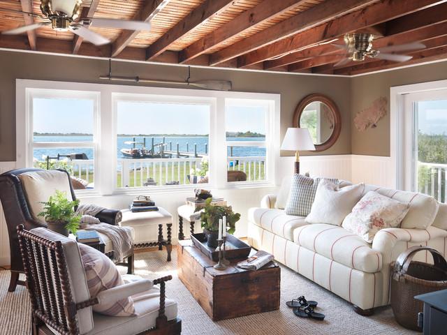 interesting-swish-coastal-cottage-beach-style-living-room-providence