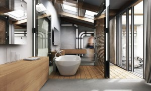 25 Stunning Industrial Bathroom Design Ideas